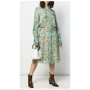 EQUIPMENT Magnolia Fountain Bleu Floral Dress